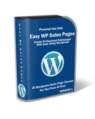 Product picture Easy WP Sales Pages-PLR